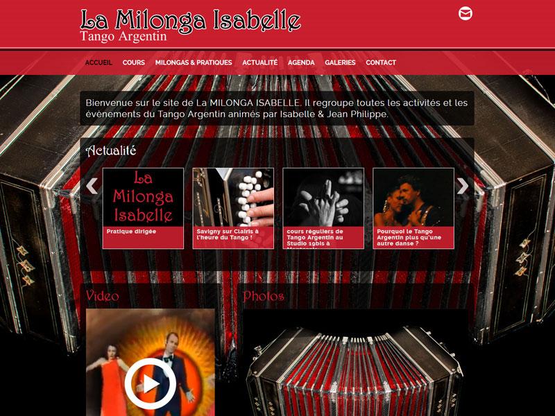 La Milonga Isabelle - création du site Internet - Tango à Montargis