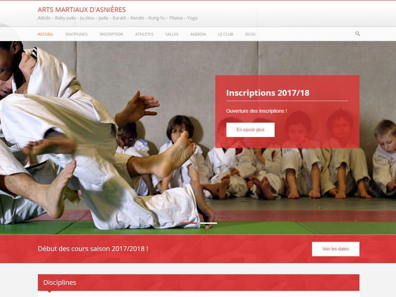 Nouveau thème pour les Arts martiaux d'Asnières