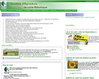 Référence création site public, collectivité : Chambre d'agriculture de Loire-Atlantique