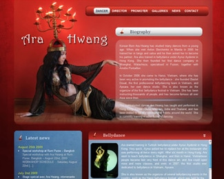 Référence création site Internet arts, spectacle, stylisme : Ara Hwang – Danseuse professionnelle