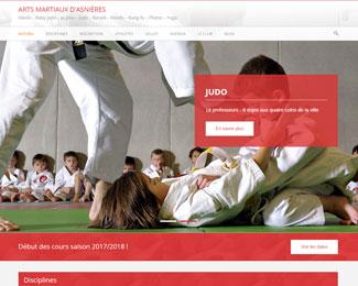 Référence création site sports, loisirs : Arts martiaux d'Asnières