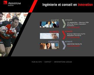 Référence création site Internet technologie, informatique : Assystem Roumanie