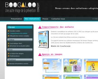 Référence création site associations et organisations : Boogaloo Concept