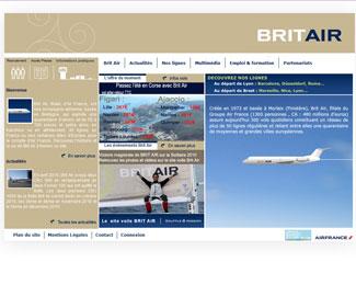Référence création site Internet voyage et tourisme : BRITAIR
