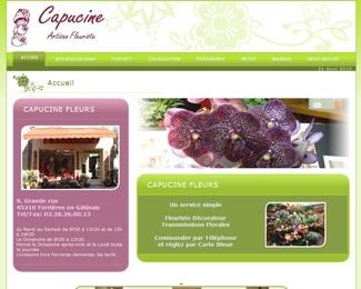 Référence création site commerce, e-commerce : Capucine Fleurs