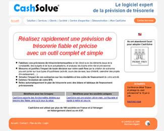 Référence création site Internet technologie, informatique : Cashsolve