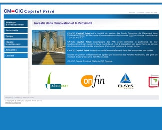 Référence création site finance et assurance :CM-CIC Capital Privé