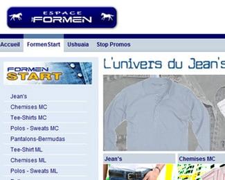 Référence création site commerce, e-commerce : Formen