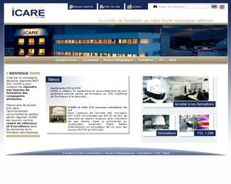 Référence création site formation et éducation : Icare