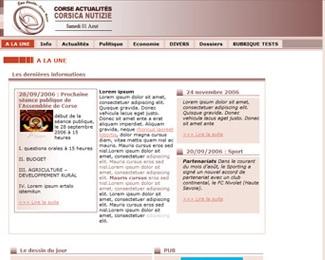 Référence création site médias, web, communication : INFOCOM – Corse Actualités