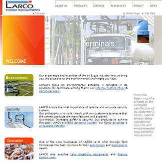Référence création site fabrication et industrie : Hunting Energy France – Larco – Roforge