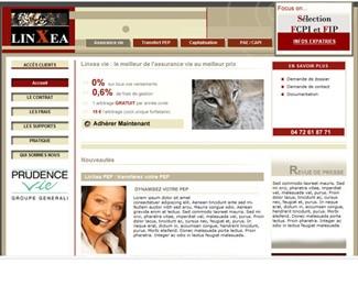 Référence création site finance et assurance : Linxea