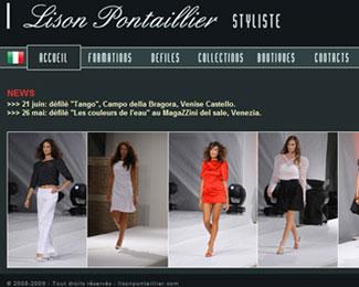 Référence création site Internet arts, spectacle, stylisme : Lison Pontaillier – Styliste