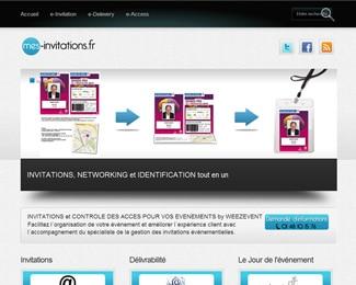 Référence création site médias, web, communication : Mes invitations