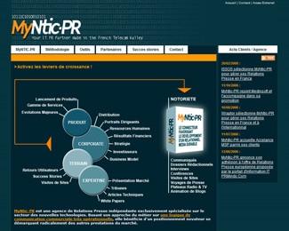 Référence création site médias, web, communication : MyNtic-PR