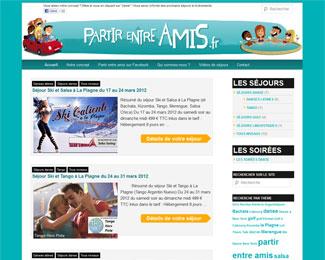 Référence création site Internet voyage et tourisme : Partir Entre Amis