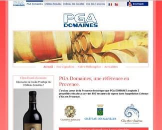 Référence création site commerce, e-commerce : PGA Domaines