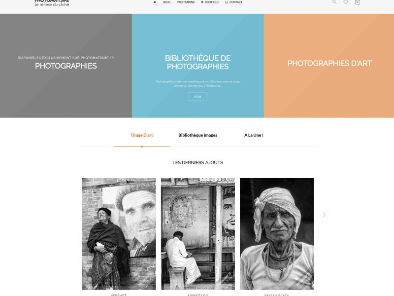 Référence création site Internet arts, spectacle, stylisme : Photomatisme