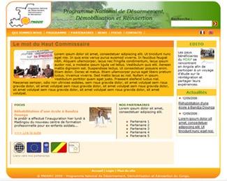 Référence création site public, collectivité : PNDDRC