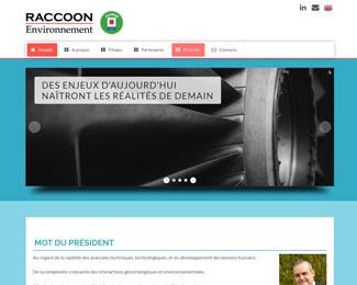 Référence création site Internet technologie, informatique : Raccoon Environnement