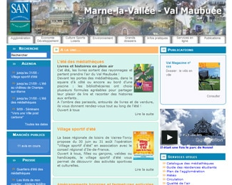 Référence création site public, collectivité : SAN – Marne-la-vallée – Val Maubuée