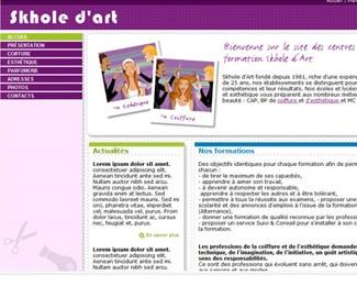 Référence création site formation et éducation : Skhole d'art