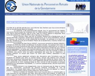 Référence création site associations et organisations : UNPRG – Union Nationale du Personnel en Retraite de la Gendarmerie
