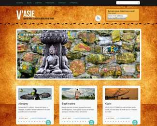 Référence création site Internet voyage et tourisme : V'ASIE