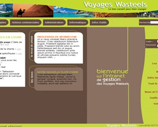 Wasteels Voyages – Intranet