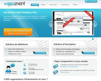 Référence création site commerce, e-commerce : Weezevent