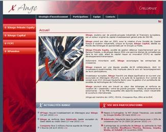 Référence création site finance et assurance : Xange