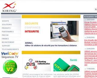 Référence création site Internet technologie, informatique : Xiring