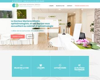 Référence création site secteur de la santé et médical : Cabinet Dr Dragu, ophtalmologue à Orléans