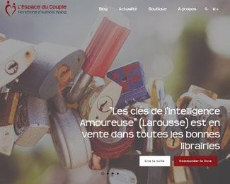 Référence création site commerce, e-commerce, secteur de la santé et médical : L'Espace du Couple