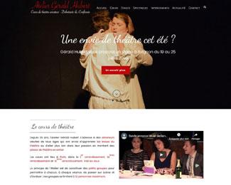 Référence création site Internet école de théâtre : Atelier Gérald Hubert