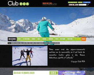 Référence création site Internet voyage et tourisme : Club Vacances PEA