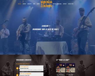 Référence création site Internet groupe de musique, artistes : Vabonga & Les Bubars