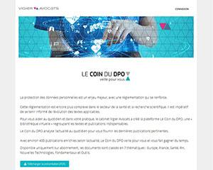 Référence création site commerce, e-commerce : Le coin du DPO - Vigier Avocats