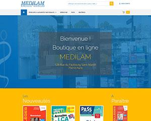 Référence création site commerce, e-commerce : MEDILAM Librairie médicale