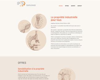 Référence création site Internet santéte et médical : IPforS - Propriété industrielle au service des scientifiques